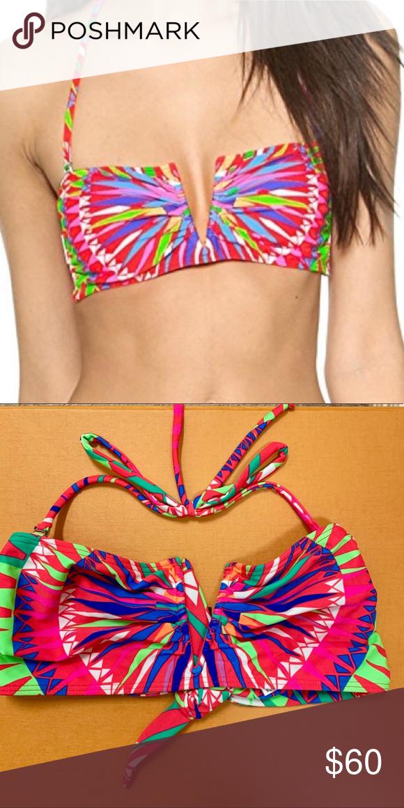 5a0dfcf3dc Mara Hoffman V Wire Bandeau Bikini Top Size M Mara Hoffman Swim V Wire  Print Bandeau