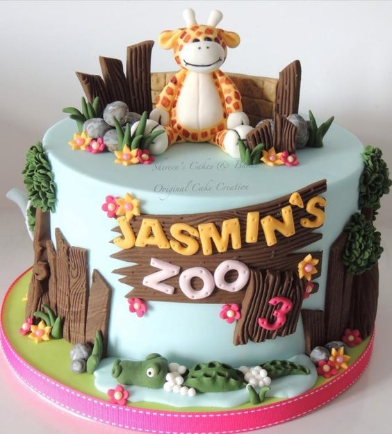 Little Zoo Cake Cakes Pinterest Zoo Cake Zoos And Cake