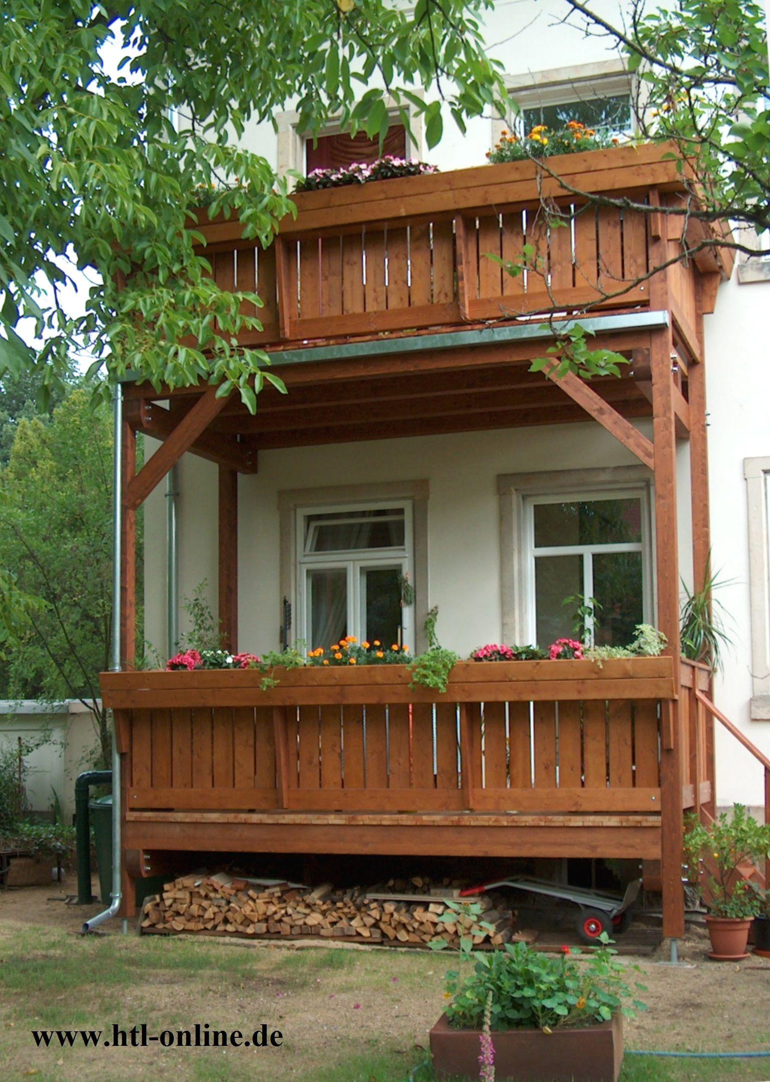 Mehrstöckiger Balkon aus Holz HTL Holztechnik Holz