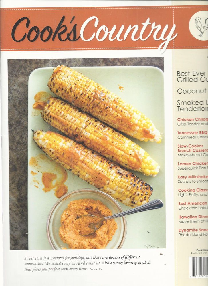 July 2015 Recipes >> Cook S Country Magazine June July 2015 Recipe Cards Grilled Corn