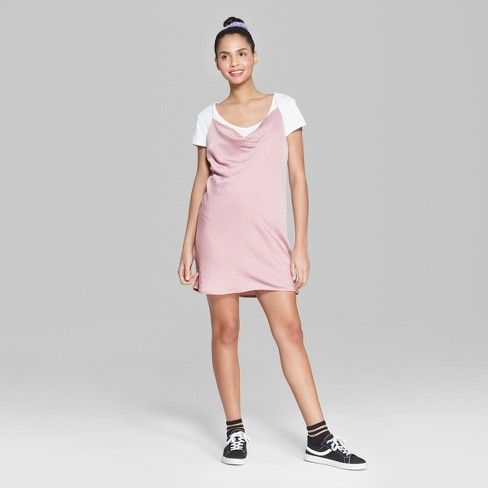 027ebf4c682 Women s Strappy Cowl Neck Woven Slip Dress - Wild Fable™ Pink   Target