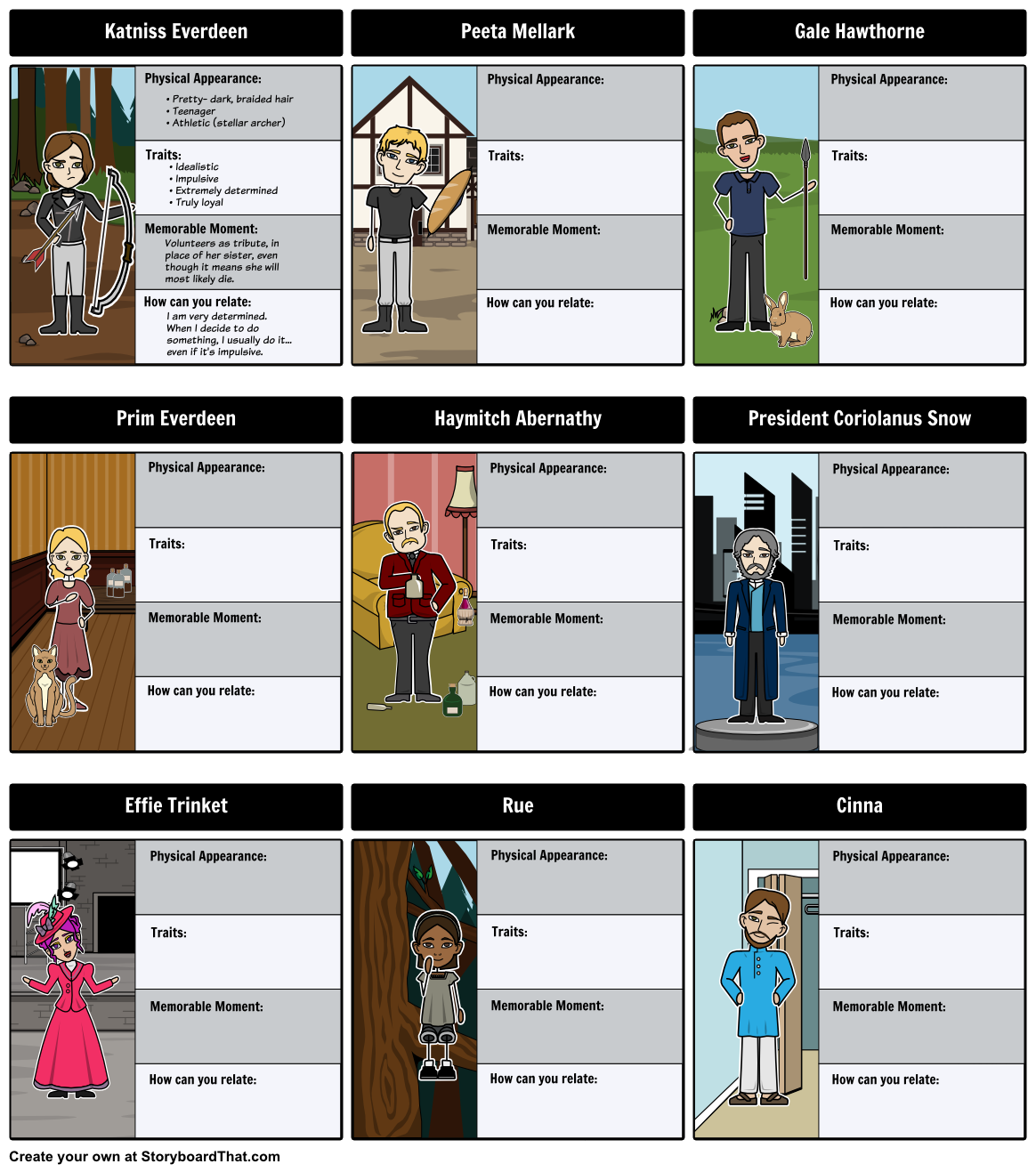 Create A Character Map For All Of The Characters From The