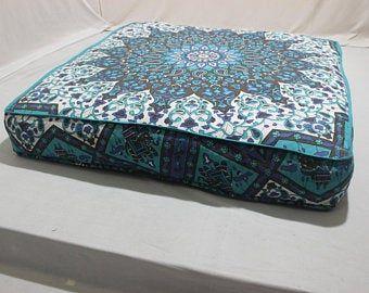 Gold Mandala Floor Cushion COVER Indian Meditation cushion Bohemian Ethnic Floor cushion P Gold Mandala Floor Cushion COVER Indian Meditation cushion Bohemian Ethnic Floo...