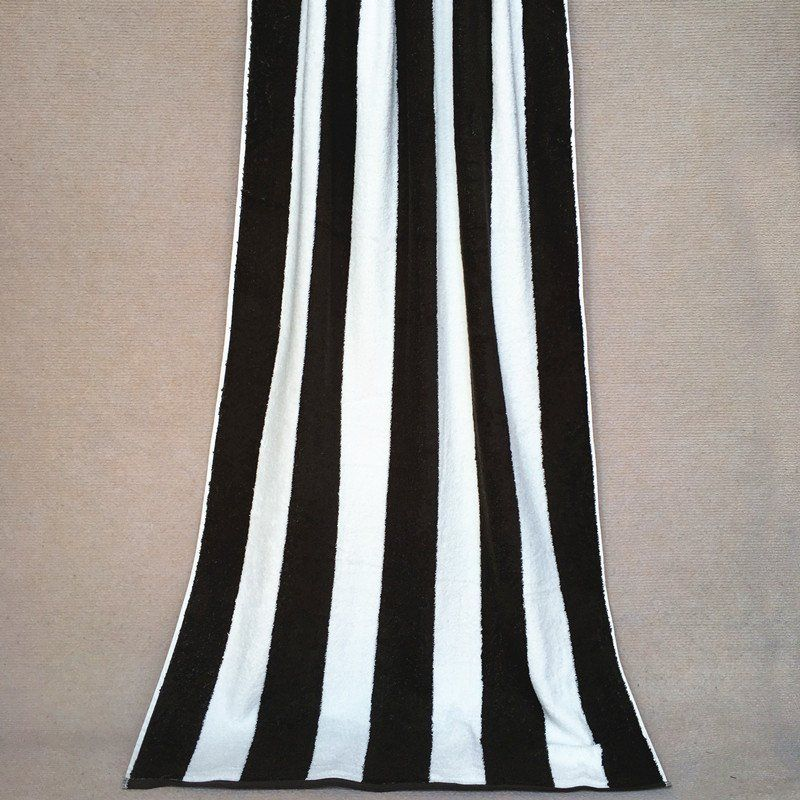 Classic Style Black And White Stripes Strong Water Absorption Soft