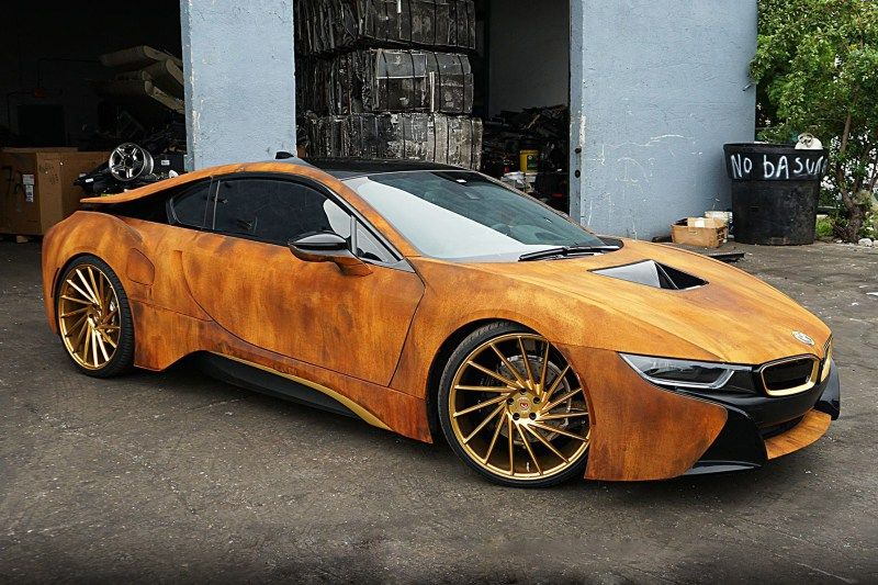 This Customized Bmw I8 Features A Rusty Exterior Fashion Style