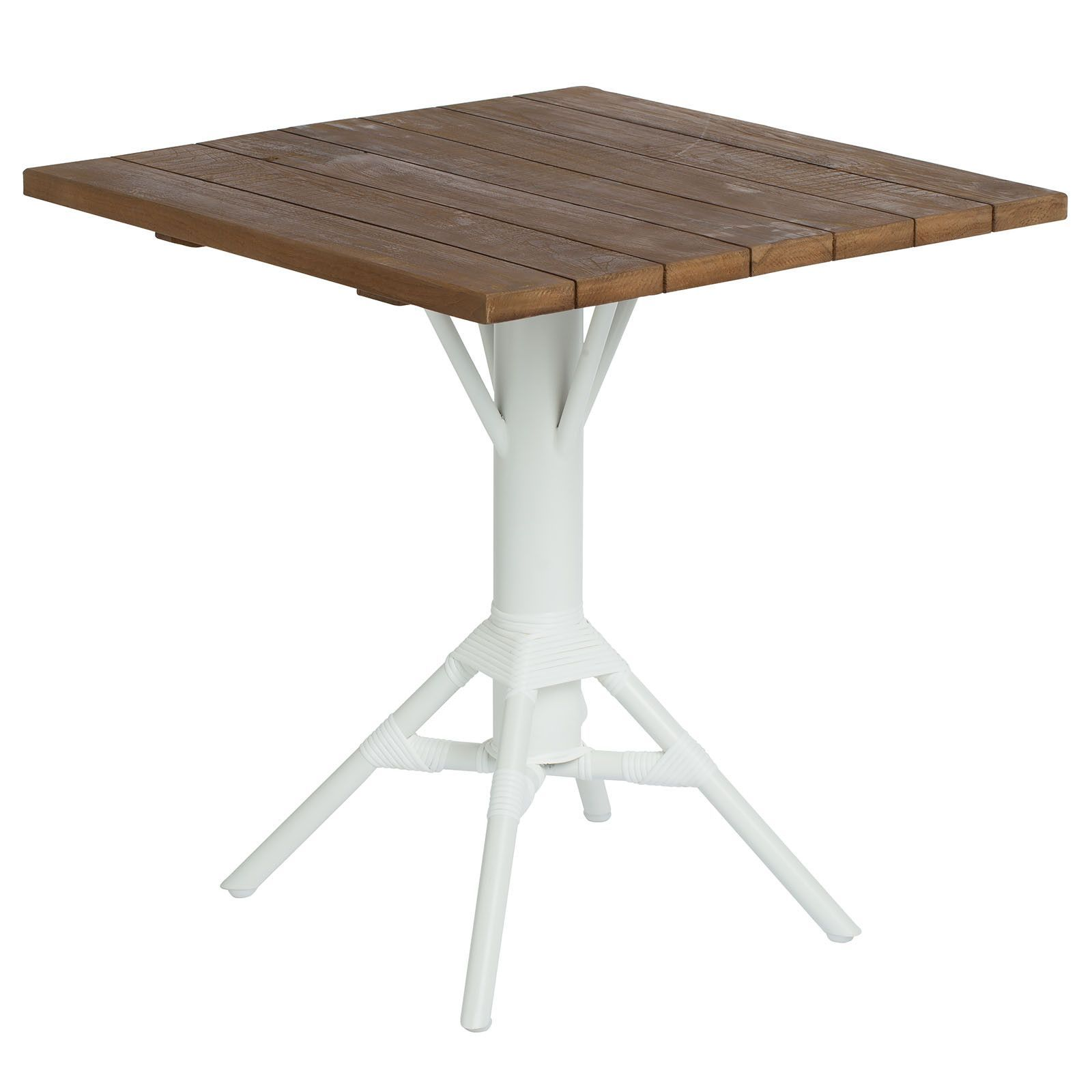 "27.56"" Nicole Cafe Table w/ Square Teak Tabletop"