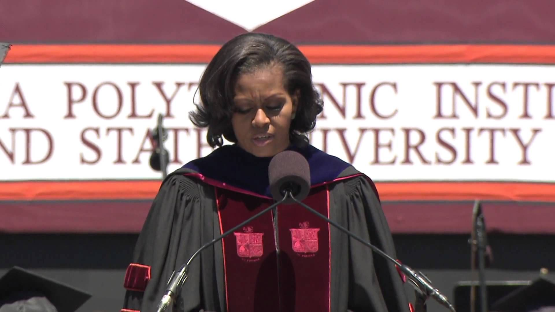 Virginia Tech Michelle Obama's Commencement Address. First