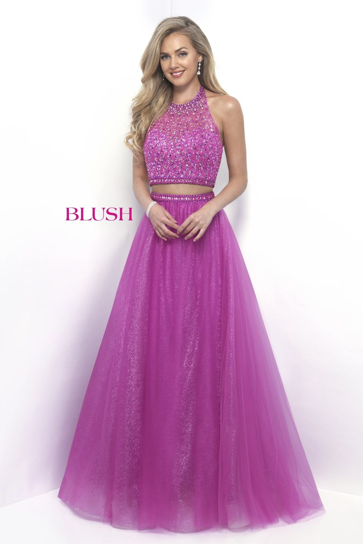 Blush Prom 11232 Party Pink Halter Two Piece Prom Dress | Products ...