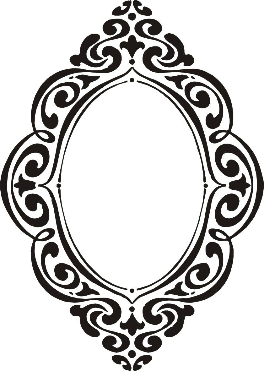 Laminas en blanco y negro p g 44 aprender manualidades es mios pinterest - Formas de espejos ...