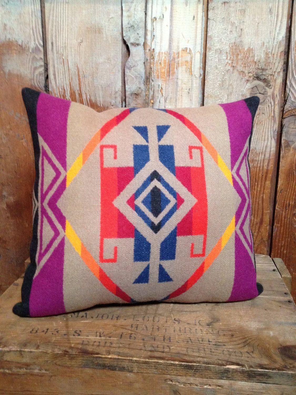 Native American Pendleton Throw Pillow Wool by IndianvsIndian ...