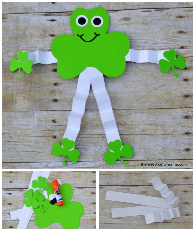St. Patrick's Day Shamrock Man Craft | St patricks day ...