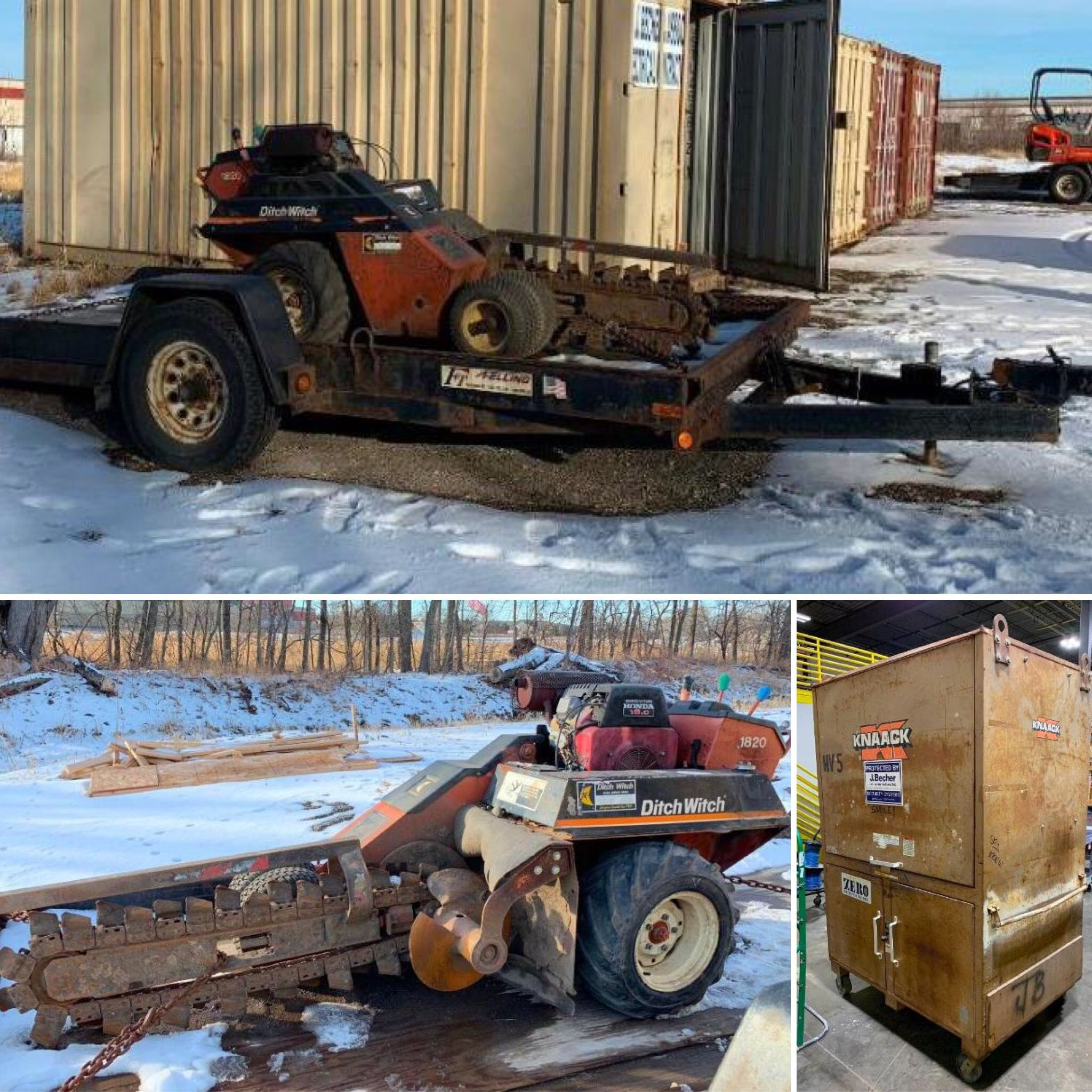 auction complete check out this feller tilt trailer ditch witch 1820 and knaack gang box bid online today at www bid 2 buy com naapro auctionswork  [ 2048 x 2048 Pixel ]