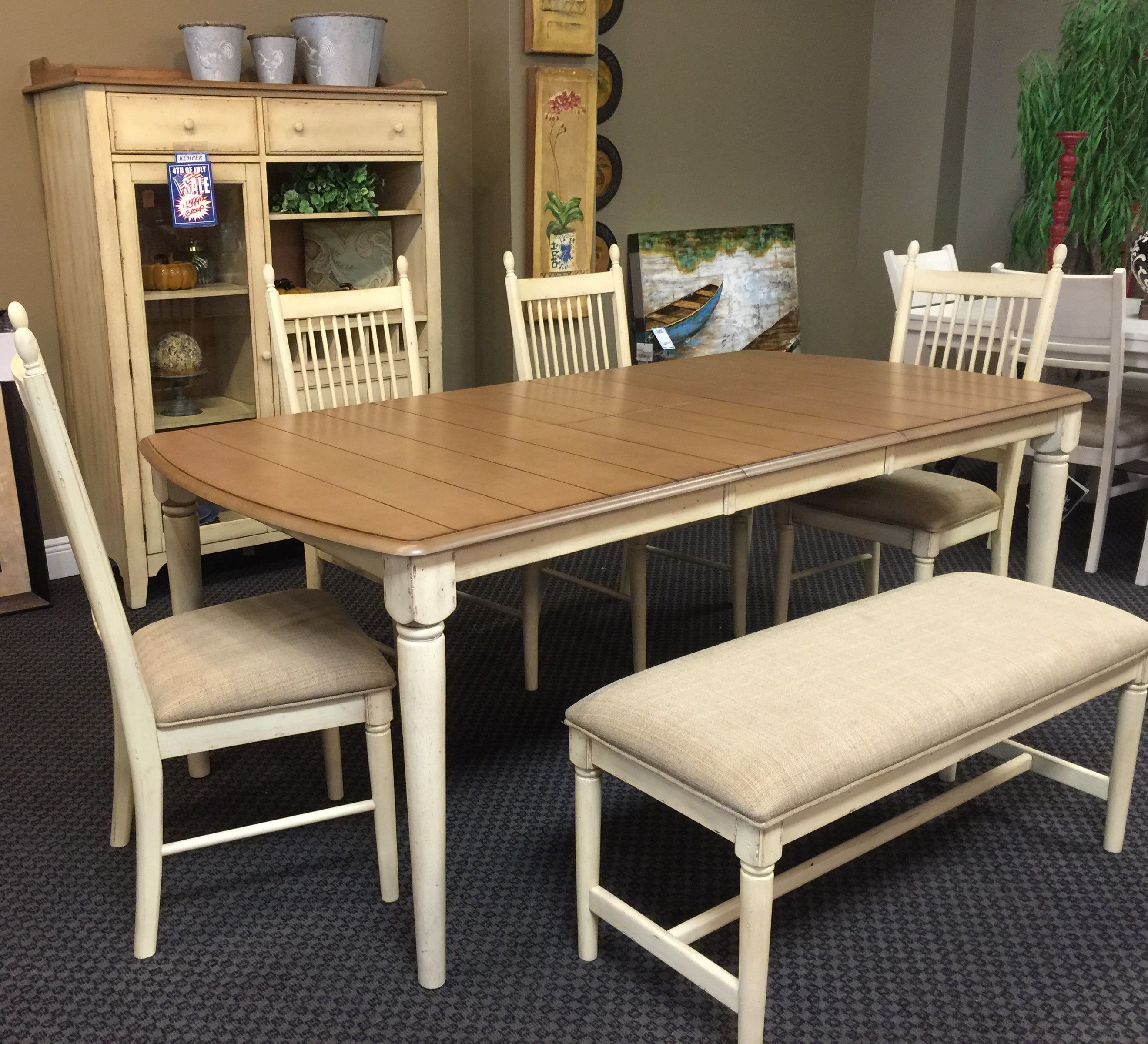 Liberty 157 dining table chairs bench hutch all for only