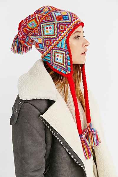 796a6c340e8361 Patterned Knit Trapper Hat - Urban Outfitters | wardrobe wishes ...