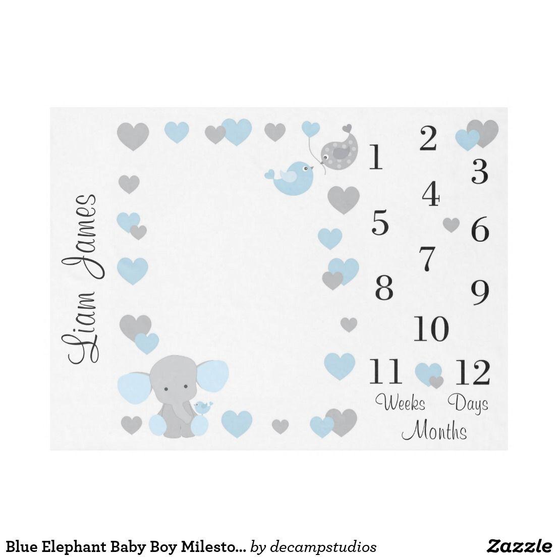 Milestone Blanket Picture Ideas For Boys