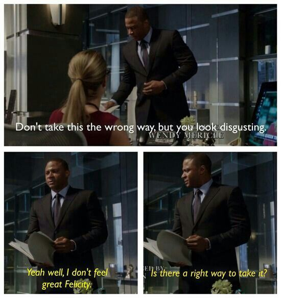 2x07 State vs Queen - Diggle and Felicity - Love them & their scenes.