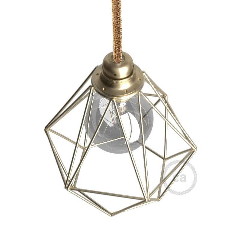 Diamantformiger Lampenschirmkafig Aus Metall E27 Anschluss In 2020 Lampe Gluhbirne Led Gluhbirnen
