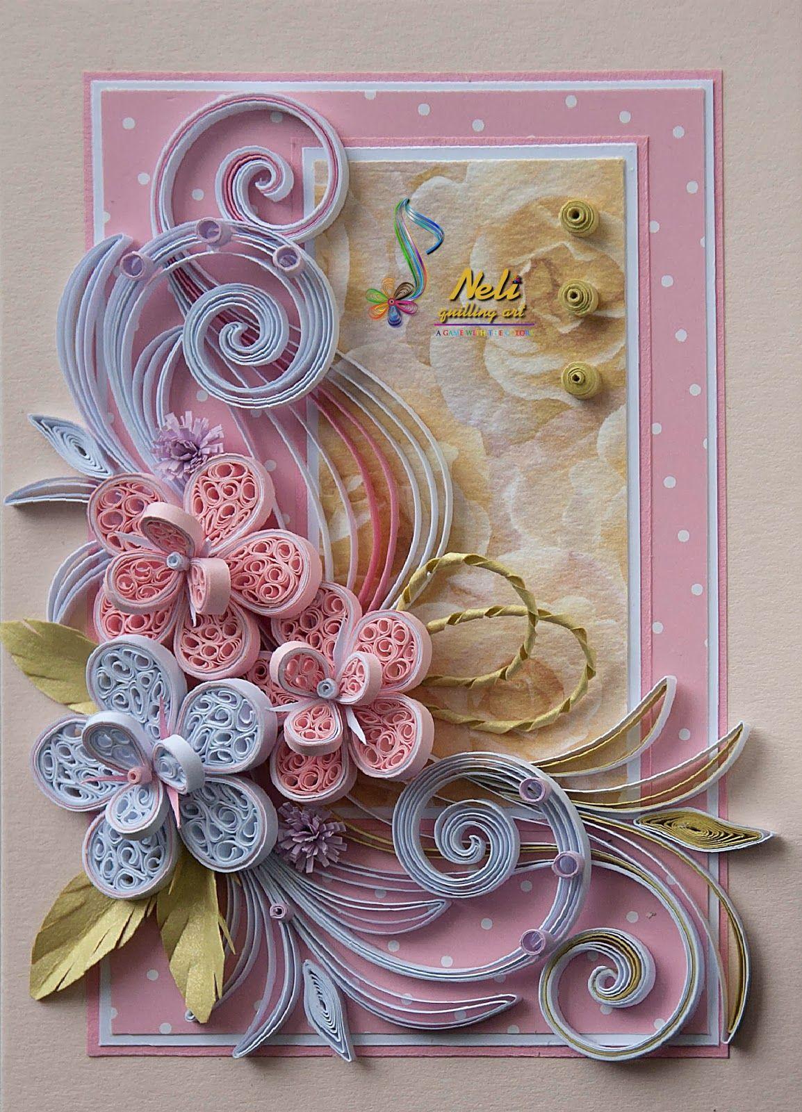 neli quilling card   105 cm  15 cm   paper quilling