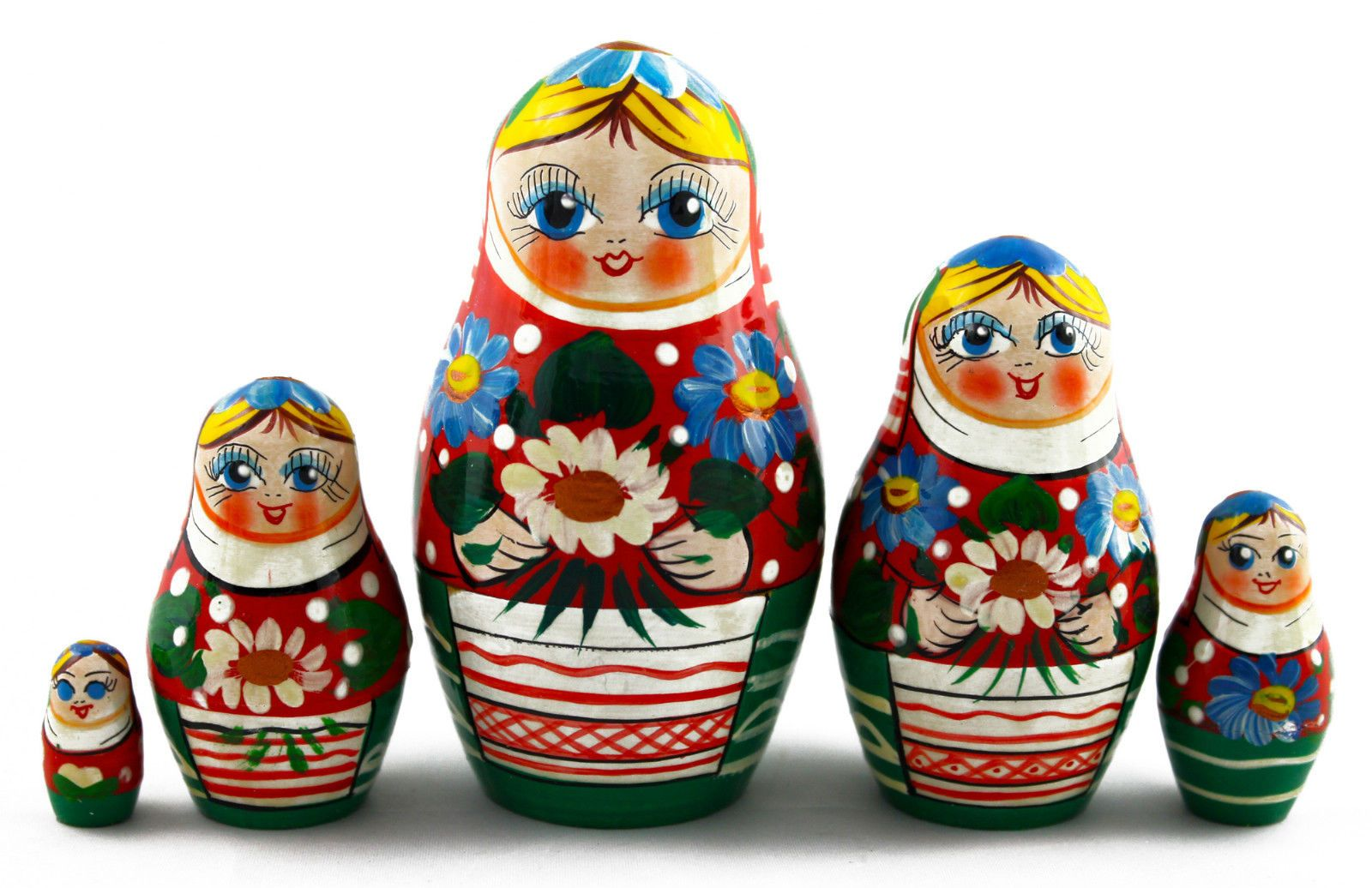 wooden russian babushka nested doll matryoshka russian dolls kids