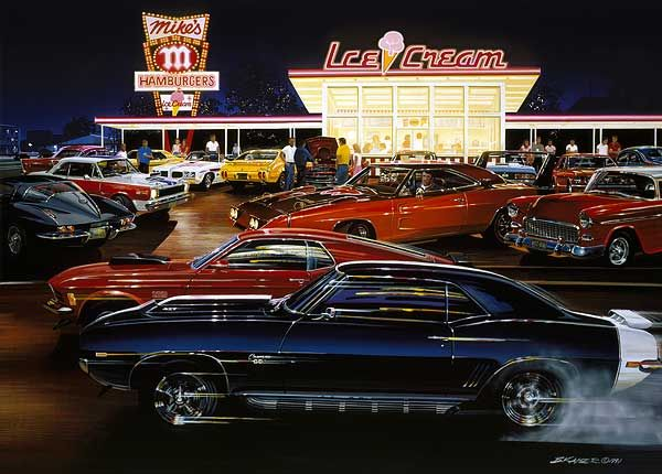 Car Art Posters Muscle Car Limited Edition Art Prints By Bruce