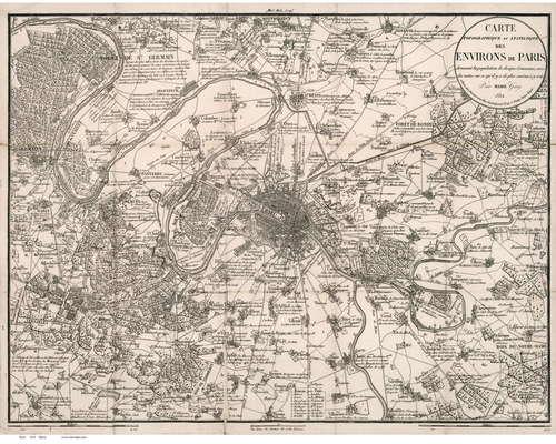 Paris France 1832 Maire Old Map Reprint Old Map Paris Map Map