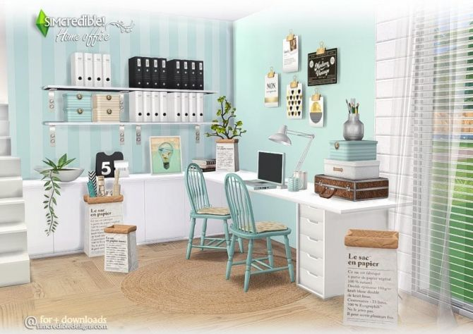 Home Office compilation of lovely items at SIMcredible! Designs 4 • Sims 4 Updates ...