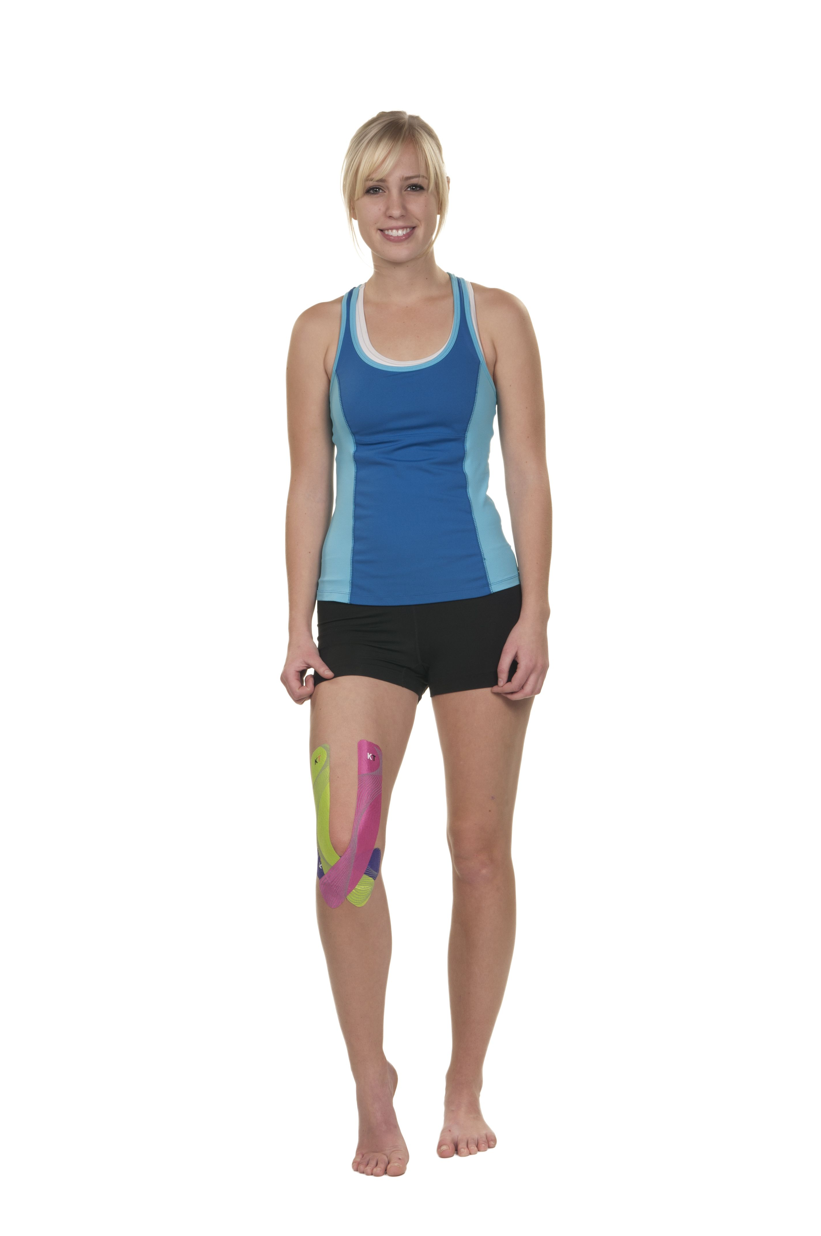 Kt tape full knee support application kinesiology taping