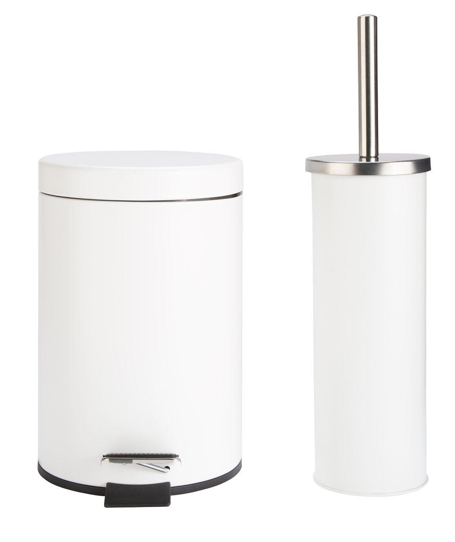 Buy Argos Home Slow Close Bin And Toilet Brush Set White Bathroom Bins Argos In 2020 Toilet Brush Argos Home Bathroom Bin