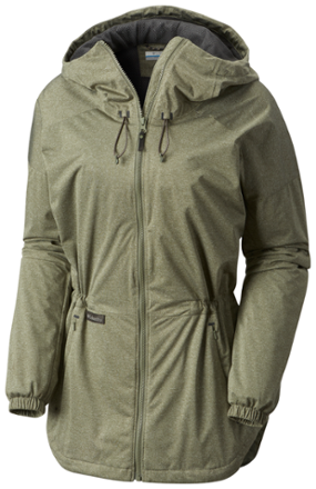 The Polyester Interlock Construction Of The Columbia Northbounder Rain Jacket Is Light And Breathable Yet It Offers Full Jackets Jackets For Women Wind Jacket