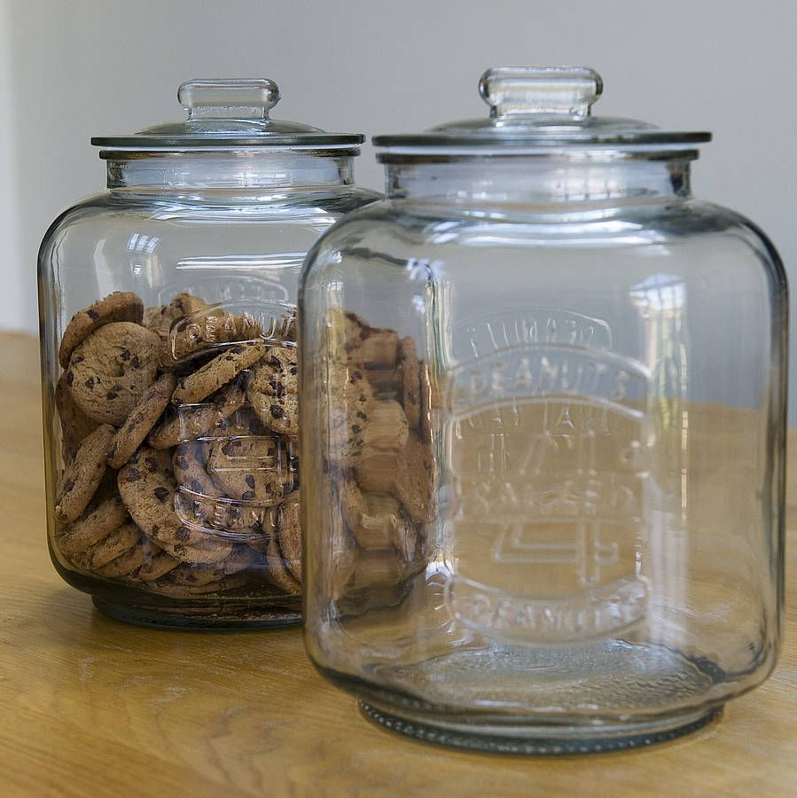 giant glass jar by freshly forked to use with flour or sugar