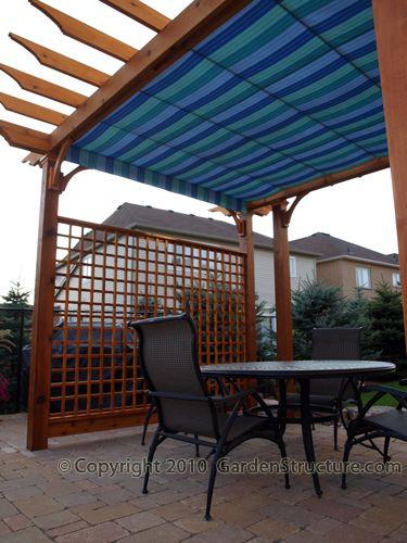 Twin Retractable Roof Pergolas House Patio Canopy