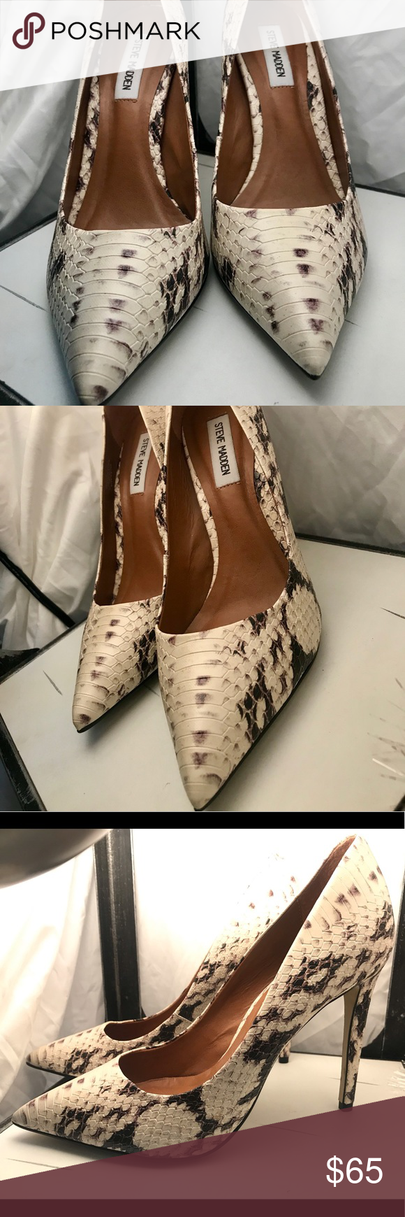 21b68d9fda6 Steve Madden Snake Patterned Pumps Sexy!!!! These are the Steve Madden  Daisie-P in natural snake size 9m They are absolutely gorgeous!