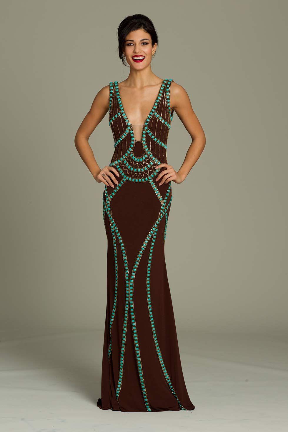 Jovani brown sleeveless gown fashion u beauty pinterest gowns