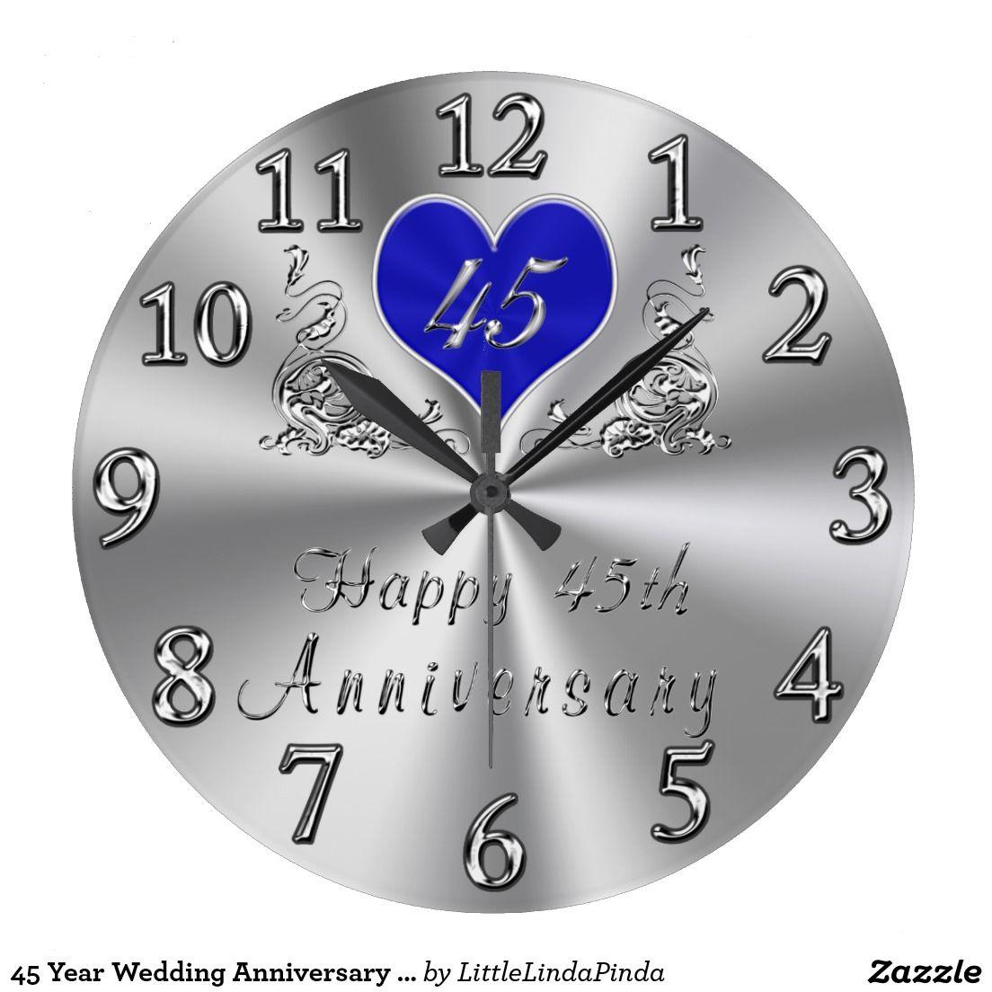 45 Wedding Anniversary Gift Ideas: 45 Year Wedding Anniversary Gifts Sapphire CLOCK