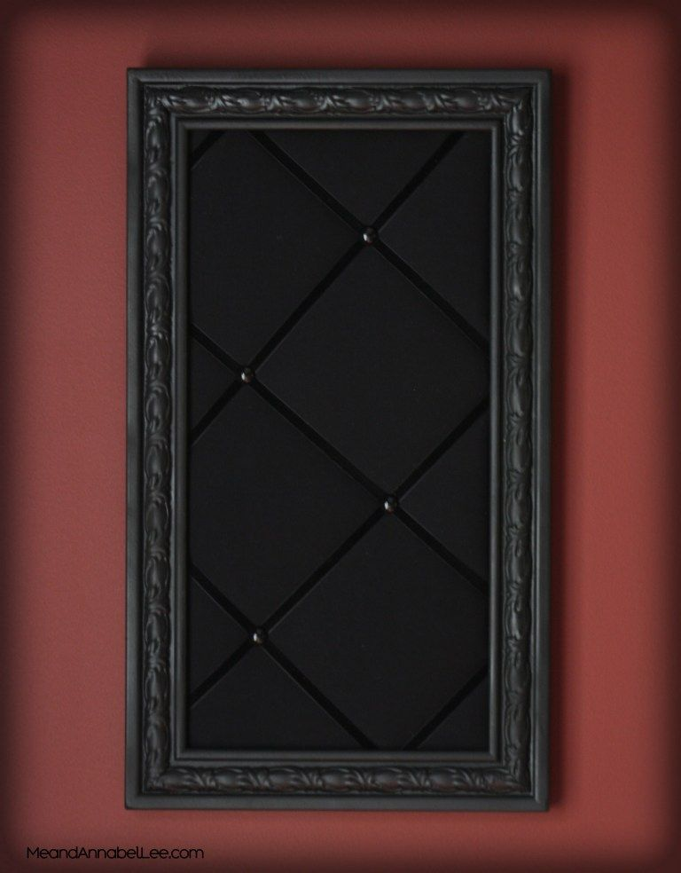 Photo of DIY Upholstered Gothic Memo Board – Black Victorian Pin Board – Goth Home Decor | Me and Annabel Lee – Gothic Blog