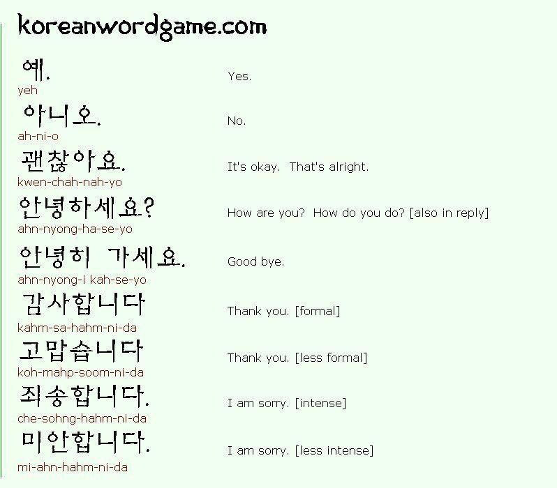 Useful korean phrases pinterest korean korean useful korean phrases m4hsunfo