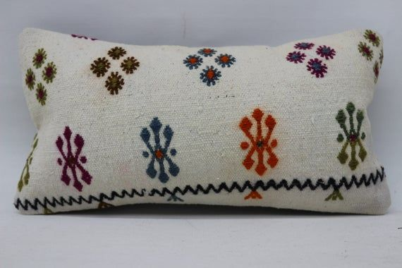 8x16 Kilim Pillow, Needlepoint Kits Pillow, Lumbar Pillow, Throw Pillow, Cushion Cover, Boho Pillow,