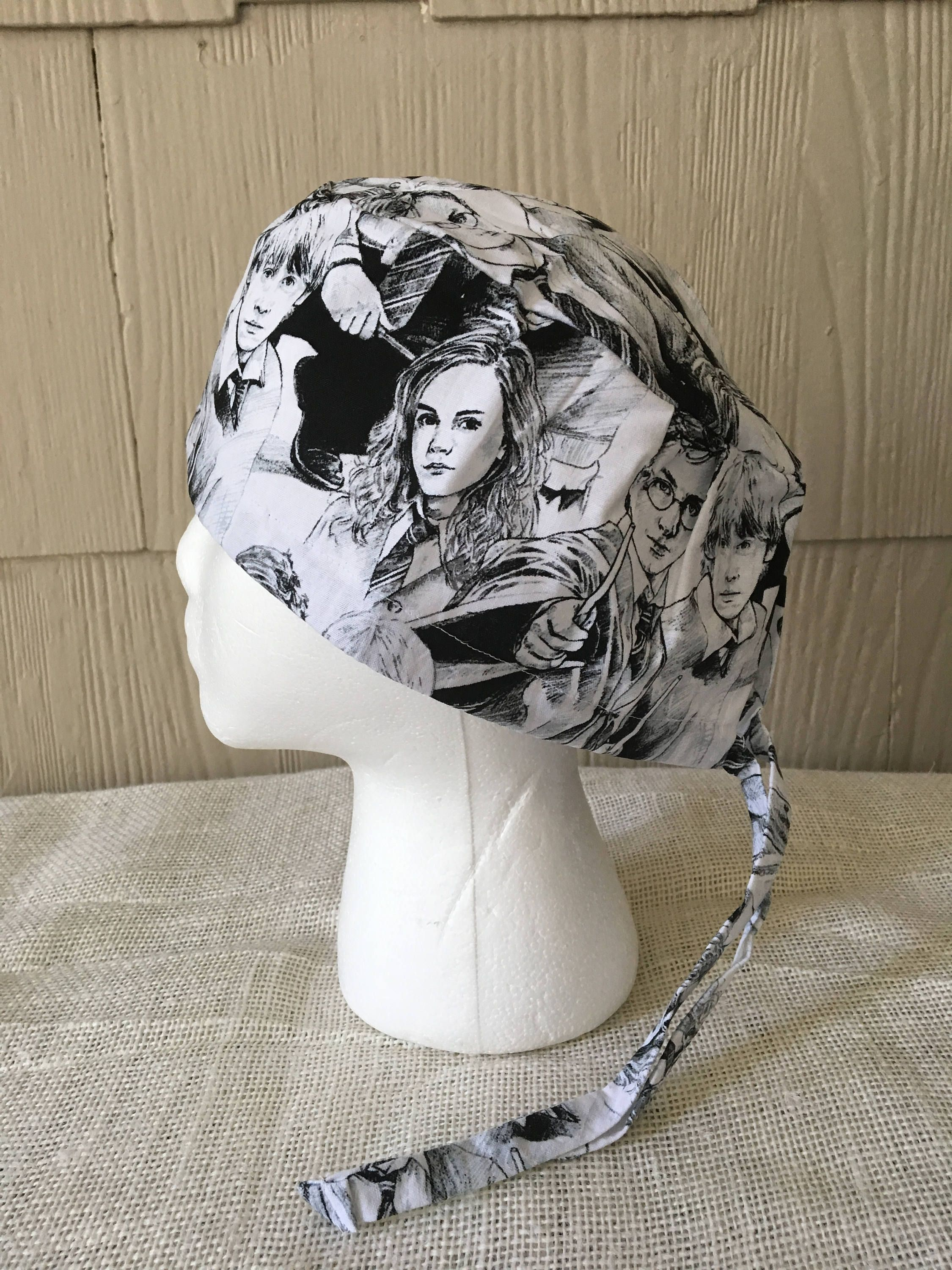 Harry Potter Characters Black and White Scrub Cap, Surgery Cap ...
