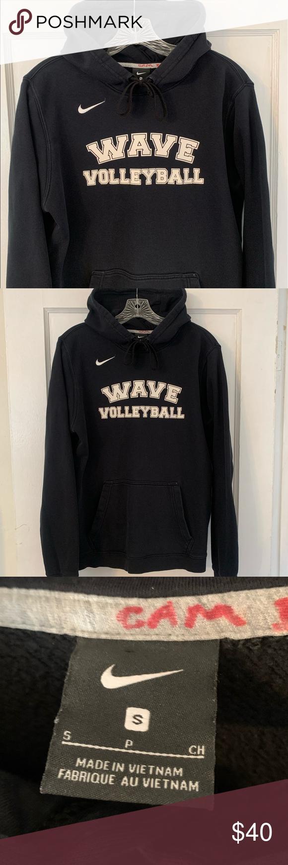 Nike Wave Volleyball Team Spellout Hoodie Sz S Hoodies Sweatshirt Shirt Nike Shirts