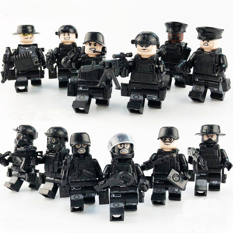 NEW 1 MADE Military Weapon Soldier Army Police SWAT Minifigure For LEGO