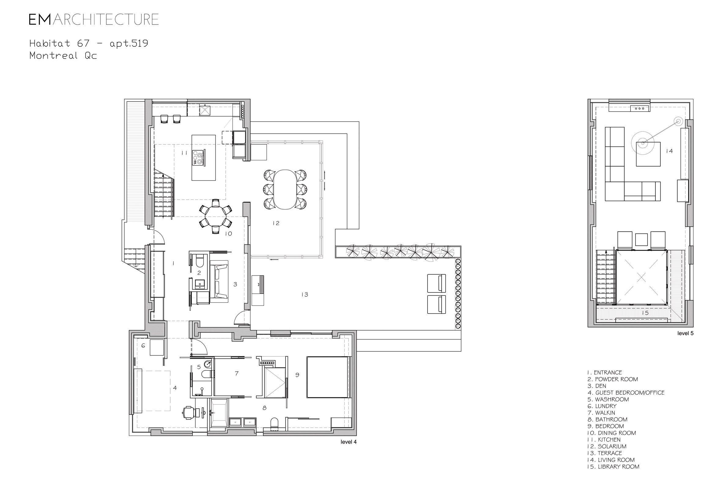 Remodelacion De Unidad 519 Complejo Residencial Habitat 67 Montreal Canada Estructura Original Safdie Architects Remodela Redesign Habitats Moshe Safdie