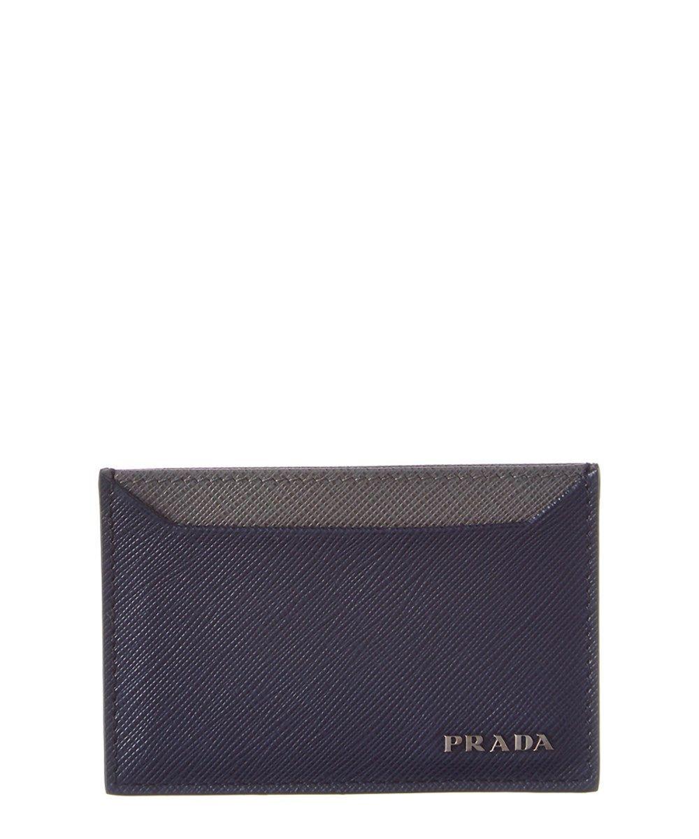 608a96f85102 PRADA Prada Bi-Color Saffiano Leather Card Holder .  prada  wallets ...