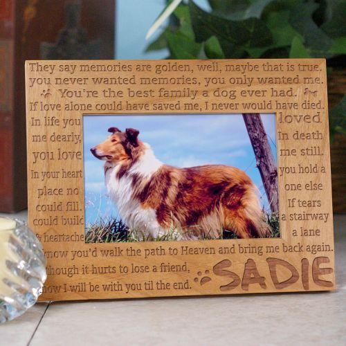 Personalized Engraved Til' the End Pet Memorial Frame