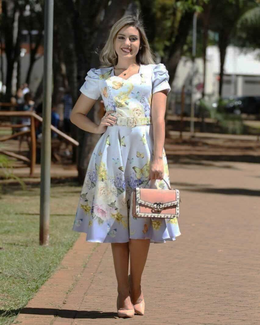 d8c1db0551 Vestido Midi Dress Lilás - Moda Evangélica - Flor de Amêndoa ...