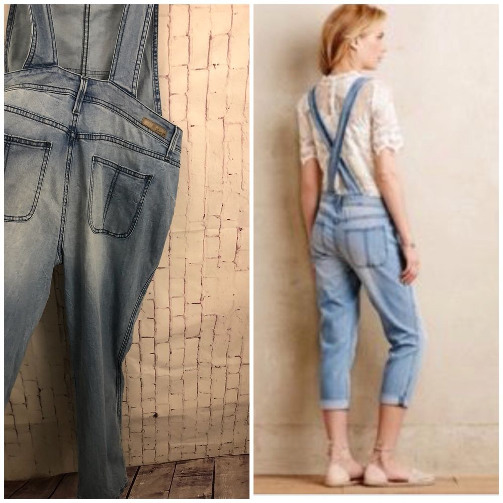 9402d398933 Anthropologie Level 99 Lily Denim Overalls Light Wash Size M in 2018 ...