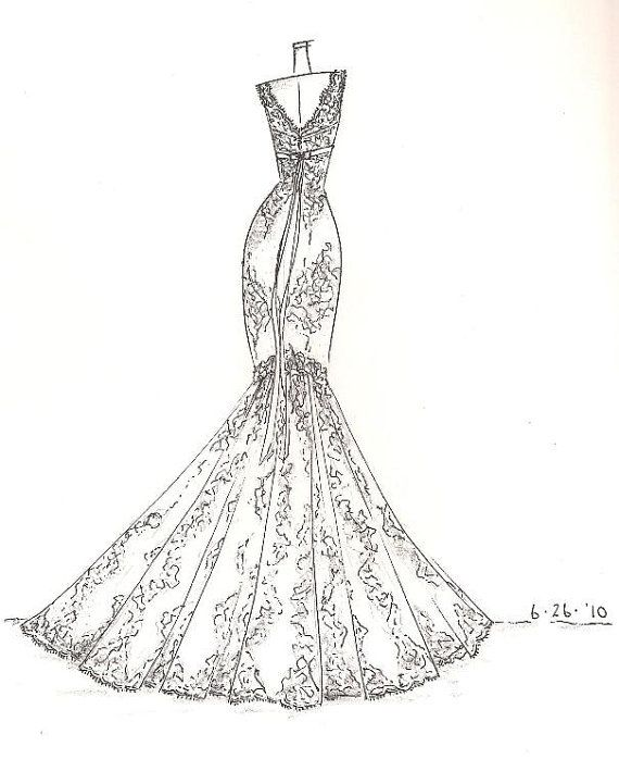 Drawing Detailed Dress