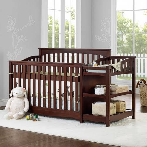 Dark Wood Nursery Furniture Set More