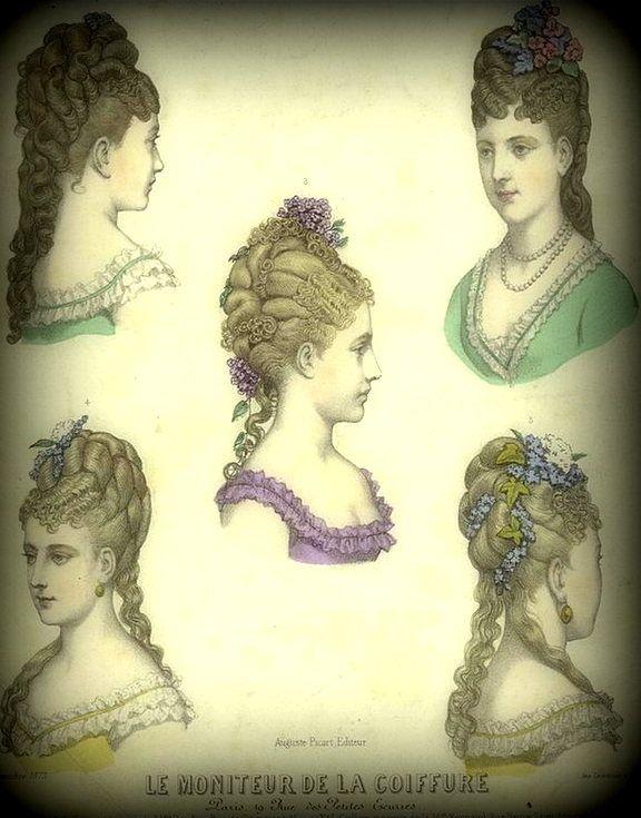 1873 peinados | peinados antiguos y de época | pinterest