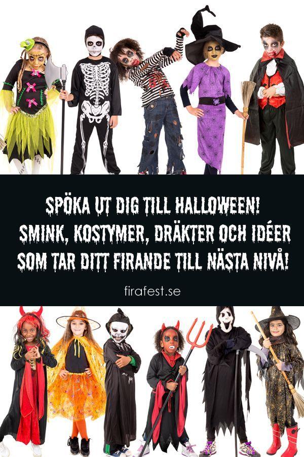 Spöka ut dig till Halloween! Smink, kostymer, dräkter och