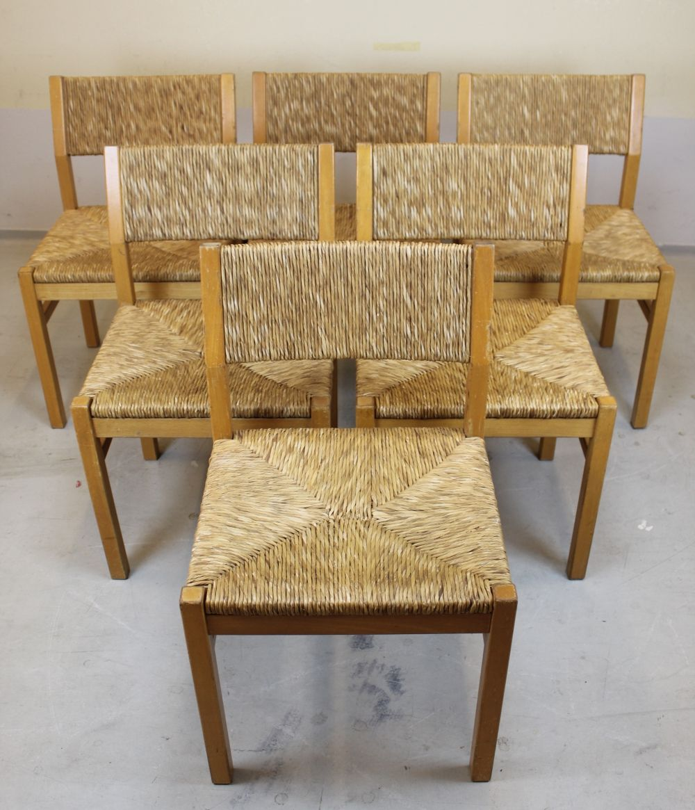 Accent Rex Meubles Set Of 6 Sb4200 Dining Chairs By Pastoe 1970s 92060 Seating